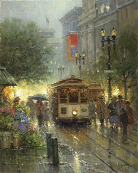 Cable Cars on Powell Street by Mark Hopkins