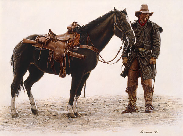 Heading for the High Ground by Western Artist James Bama
