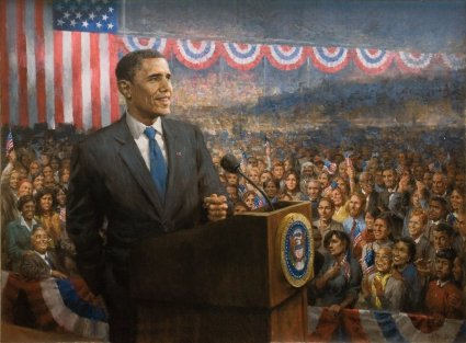 Change by Andy Thomas, Painting of Barack Obama