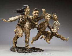 First One There Mark Hopkins Bronze Sculpture,