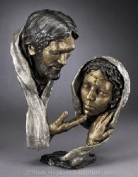 Forgiveness Mark Hopkins Bronze Sculpture, Steambo