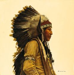 Black Elk's Great Grandson by James Bama