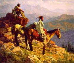 On The Edge of The World by Howard Terpning