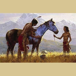 Horse of a Different Color by Howard Terpning