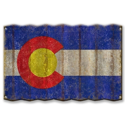 Colorado State Flag - Corrugated