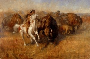 Buffalo Hunt by Andy Thomas