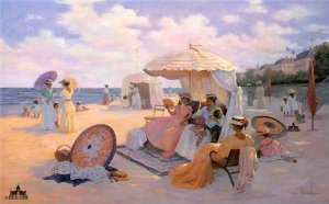 A Day at the Beach, 1900 by Christa Kieffer