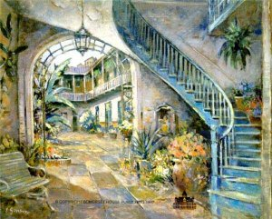 Hidden Courtyard by L. Gordon