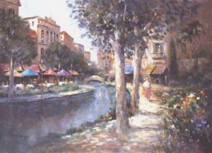 Canal Cafes by L. Gordon