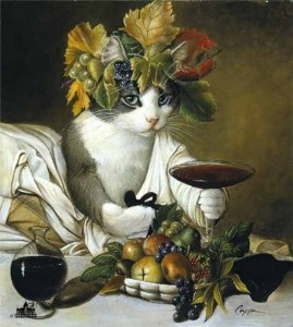 Widget as Bacchus by Melinda Copper