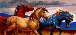 Carousel Horses III by Nancy Glazier