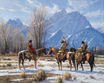 Eagle Prayer by Western Artist Martin Grelle