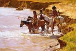 Crossing At The Ford by Howard Terpning