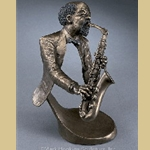 Jazz Sax II by Mark Hopkins