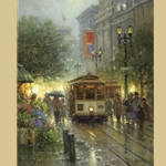 Cable Cars on Powell Street by G. Harvey
