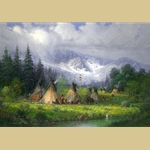 Peaceful Encampment by G. Harvey