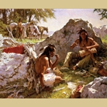 Hard Trails Wore Out More Than Ponies by Howard Terpning