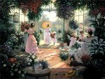 Tea in the Conservatory by Christa Kieffer