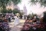Flower Market Along the Seine by Christa Kieffer