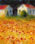 Field of Poppies by L. Gordon