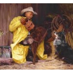 Western Cowboy Indian And Horse Art Fine Art Prints