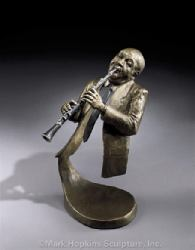 Jazz Clarinet Mark Hopkins Sculpture Bronze Limite