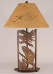 Metal Tan Fish Lamp