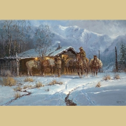 Line Shack Cowhands by G. Harvey