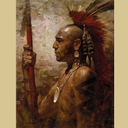 Pequot Warrior By Z.S. Liang