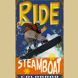 Ride Snowboard Sign