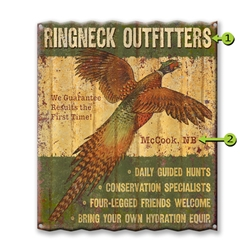 Ringneck Outfitters - Corrugated Metal Sign