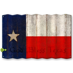 Texas Flag - Corrugated Metal