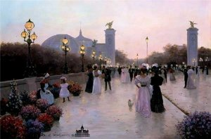 Encounter on la Pont Alexandre by Christa Kieffer