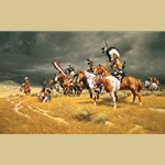 Watching the Wagons by Frank McCarthy