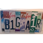 License Plate Artwork, Steamboat Springs, Colorado, Art Gallery Downtown Steamboat, Mountain Traditions